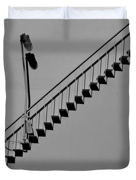 Steps In The Shadows Duvet Cover