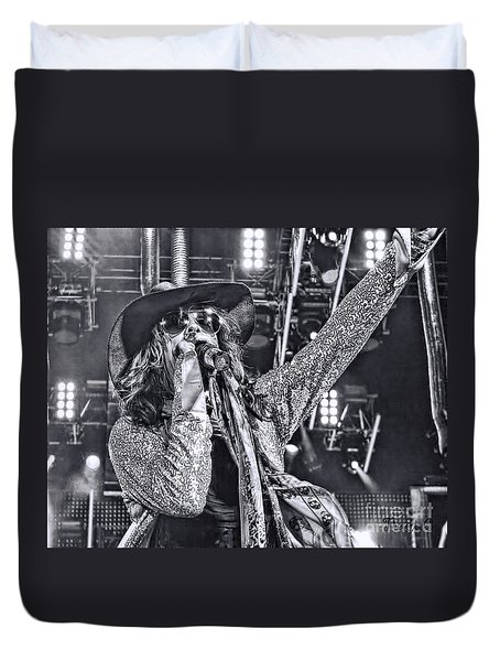 Duvet Cover featuring the photograph Steven T by Traci Cottingham