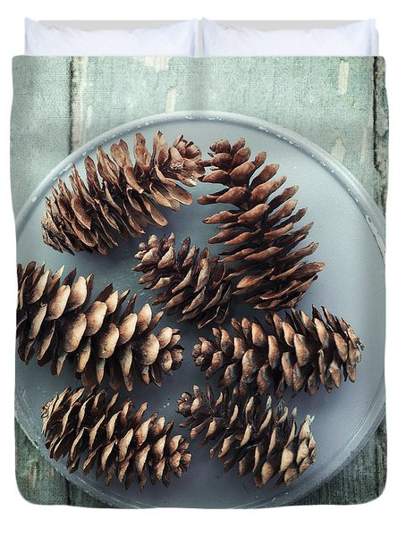 Stil Life With  Seven Pine Cones Duvet Cover