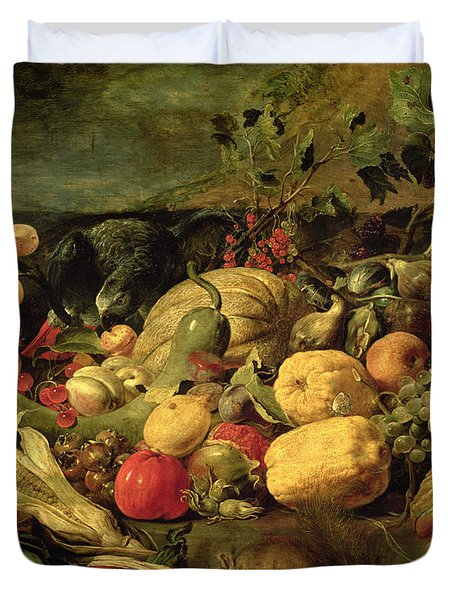 Still Life Of Fruits And Vegetables Duvet Cover by Frans Snyders