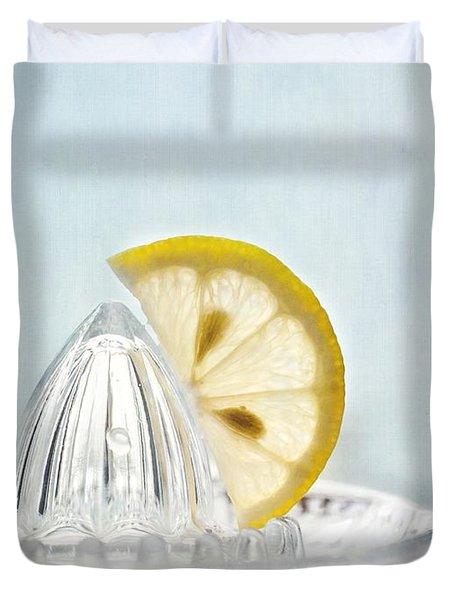 Still Life With A Half Slice Of Lemon Duvet Cover by Priska Wettstein