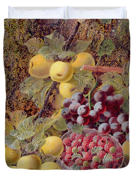 Still Life With Fruit Duvet Cover by Oliver Clare