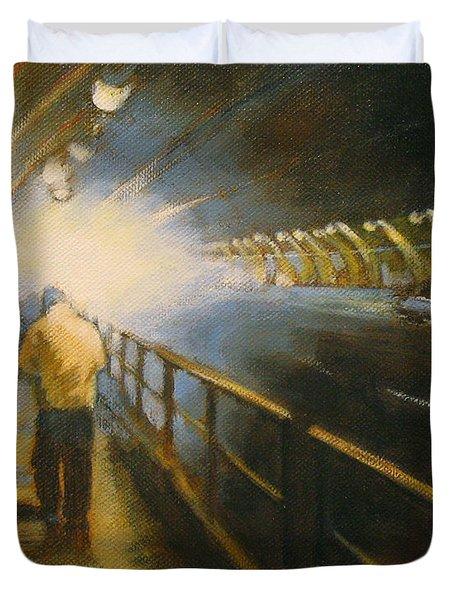 Stockton Tunnel Duvet Cover by Meg Biddle
