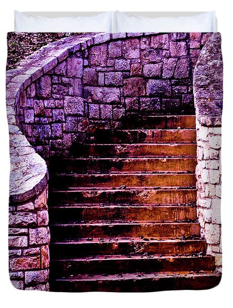 Stone Staircase Duvet Cover