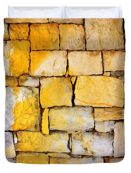 Stone Wall Duvet Cover by Carlos Caetano
