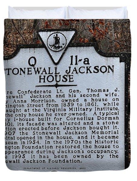 Stonewall Jackson House Duvet Cover by Todd Hostetter