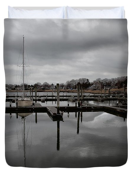 Storm Brewing In The Early Season Duvet Cover by Karol Livote