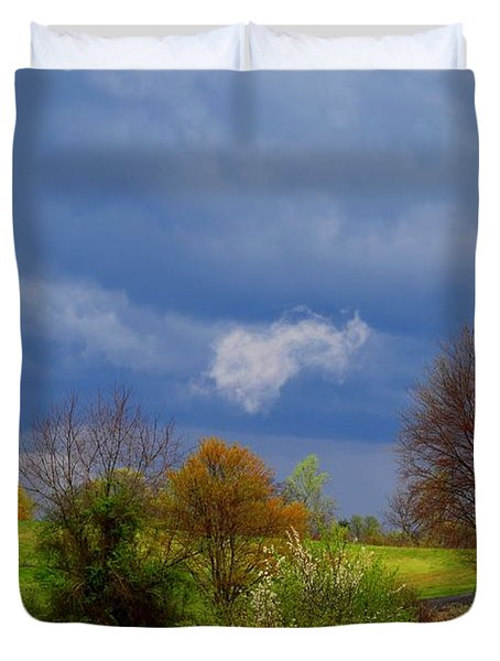 Duvet Cover featuring the photograph Storm Cell by Kathryn Meyer