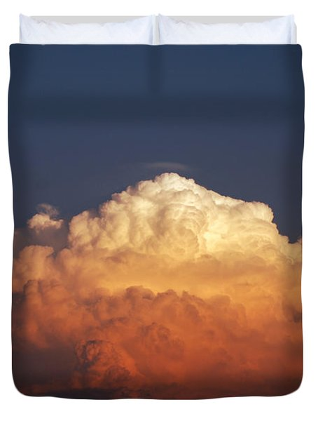 Duvet Cover featuring the photograph Storm Clouds At Sunset by Mark Dodd