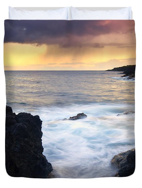 Storm Fissure Duvet Cover by Mike  Dawson