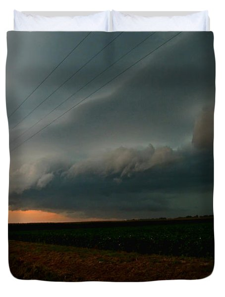 Duvet Cover featuring the photograph Storm Front by Debbie Portwood