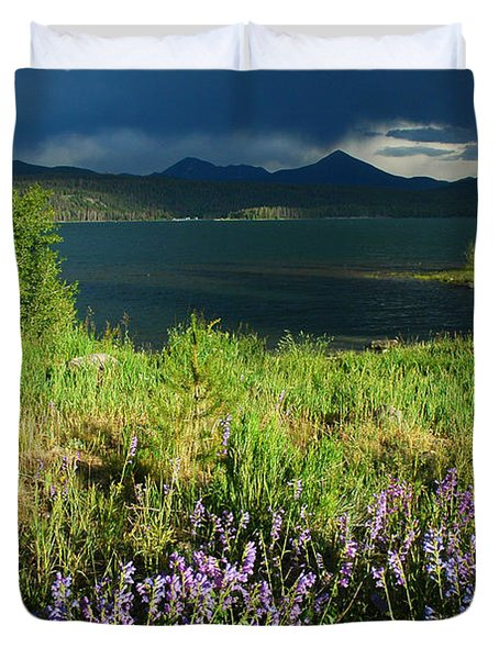 Storm In Dillon Duvet Cover by Lynn Bauer