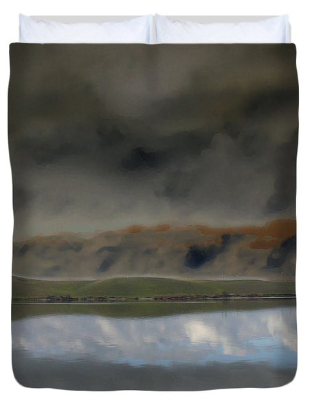 Storm On Land Duvet Cover