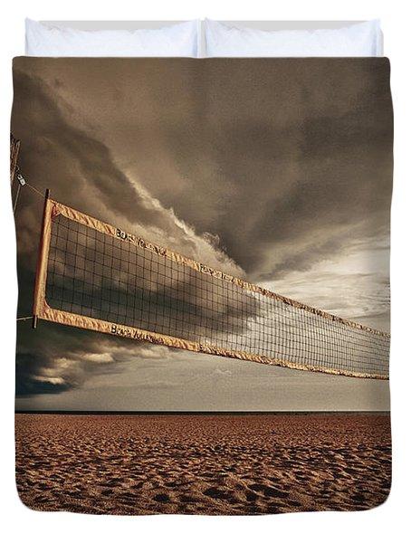 Volley Ball Net Duvet Cover