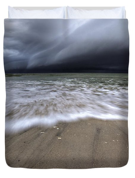 Storm Rolling Duvet Cover by Nick  Shirghio
