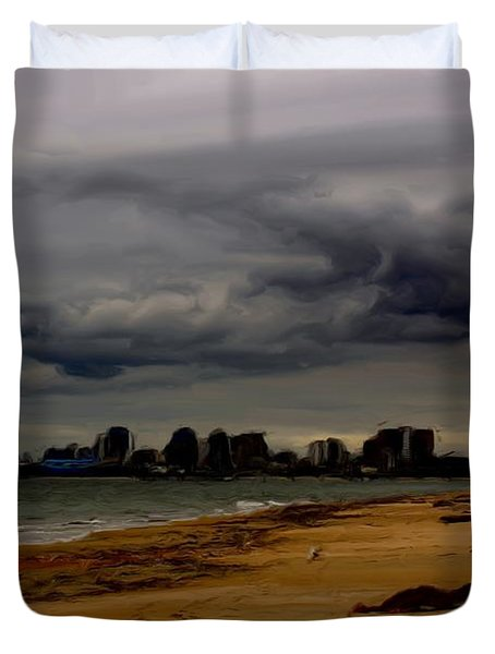 Storm Rolls In Duvet Cover by Heidi Smith