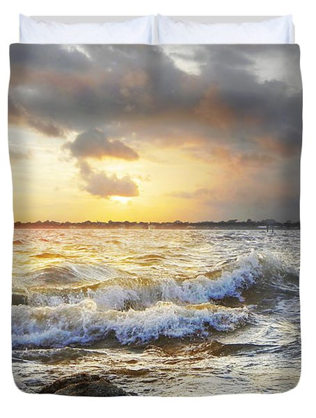 Storm Waves Duvet Cover