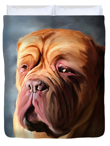 Stormy Dogue Duvet Cover by Michelle Wrighton