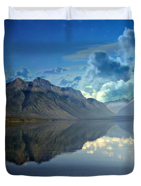Stormy Lake Duvet Cover by Marty Koch