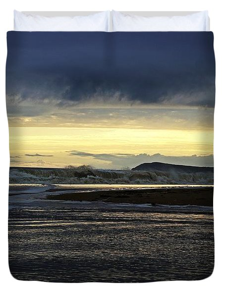 Duvet Cover featuring the photograph Stormy Morning 2 by Blair Stuart