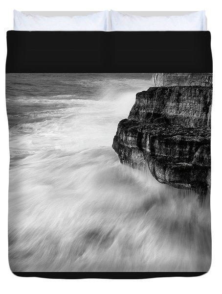Duvet Cover featuring the photograph Stormy Sea 1 by Pedro Cardona
