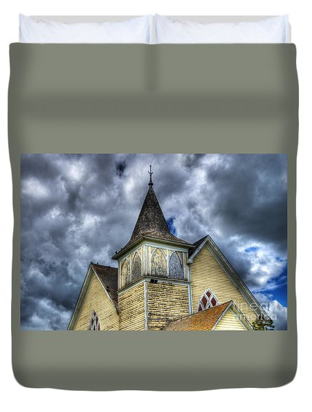 Stormy Times Duvet Cover by Bob Christopher