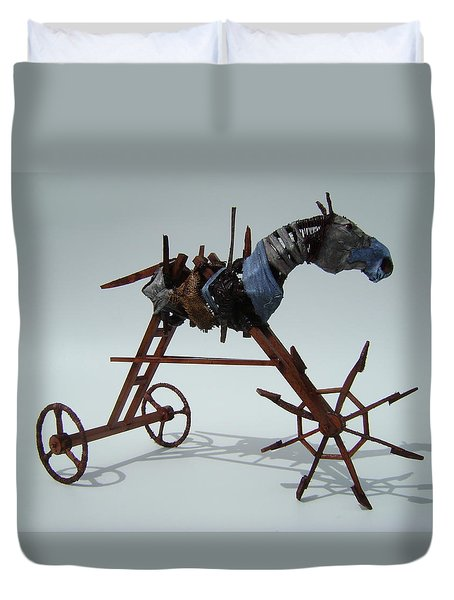 Strangely Young Duvet Cover by Jim Casey