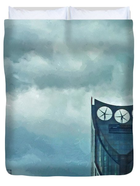 Strata Tower In London Duvet Cover by Steve Taylor