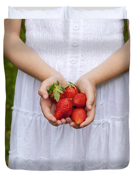 Strawberries Duvet Cover by Joana Kruse