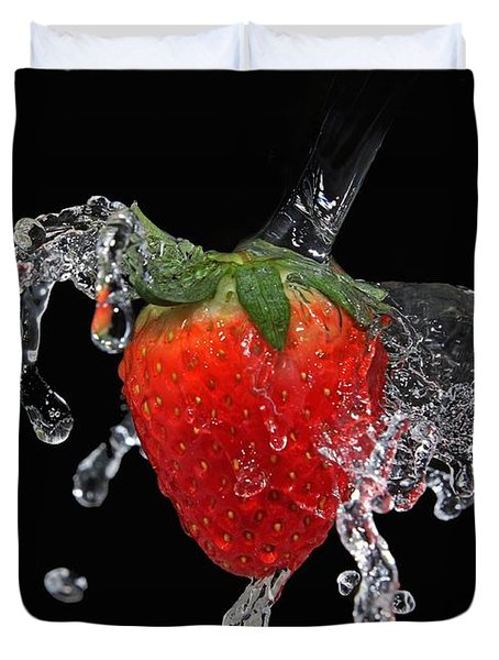 Strawberry-splash Duvet Cover