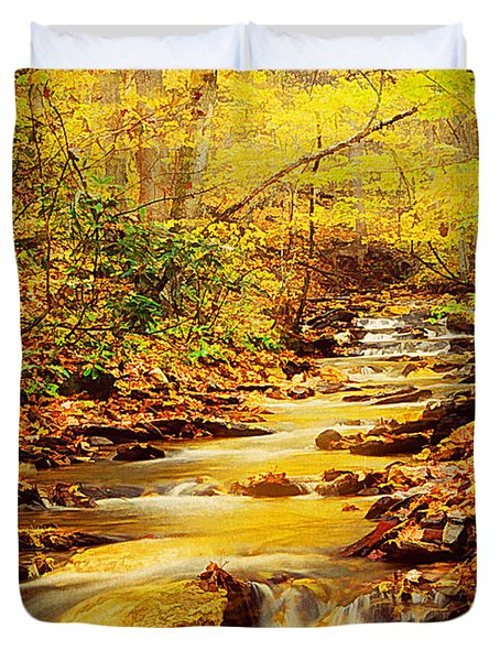 Streams Of Gold Duvet Cover by Darren Fisher