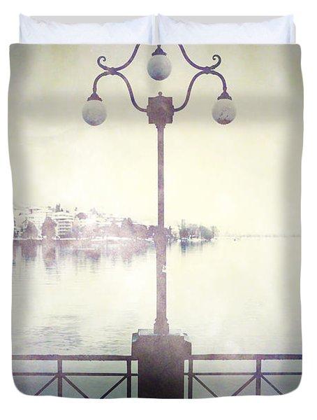 Street Lamp Duvet Cover by Joana Kruse