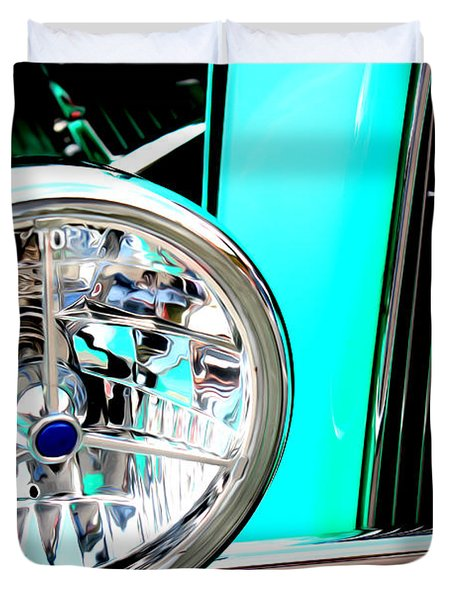 Duvet Cover featuring the digital art Street Rod Beauty by Tony Cooper