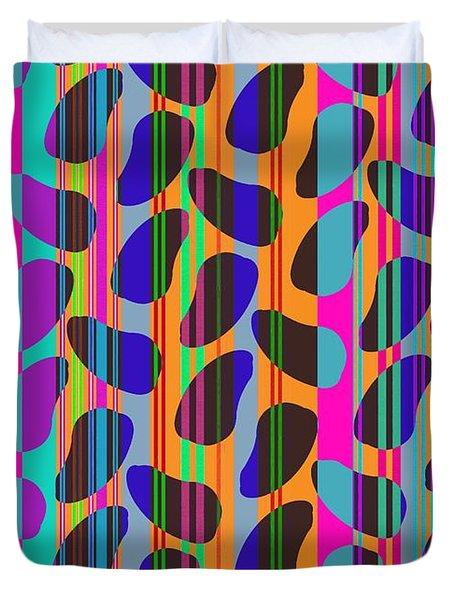 Stripe Beans Duvet Cover by Louisa Knight