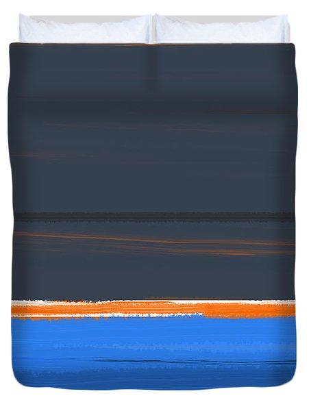 Stripe Orange Duvet Cover