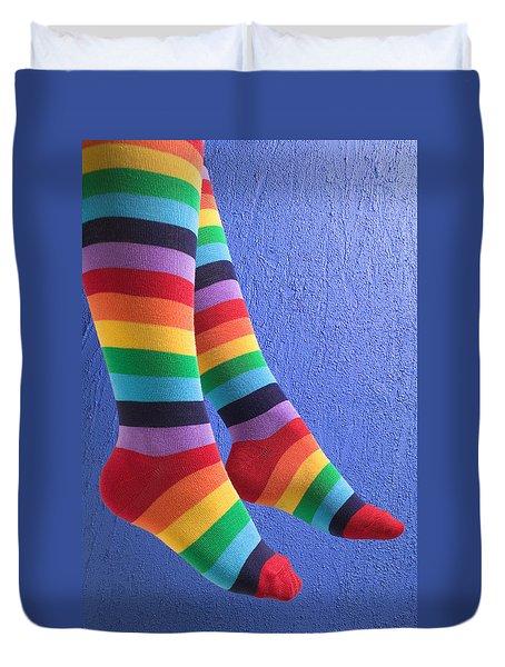 Striped Socks Duvet Cover