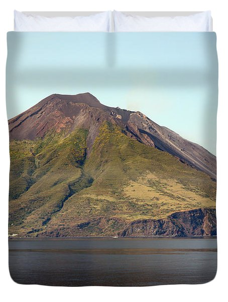 Stromboli Volcano, Aeolian Islands Duvet Cover by Richard Roscoe