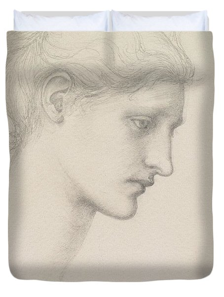 Study For Laus Veneria Duvet Cover by Sir Edward Burne Jones