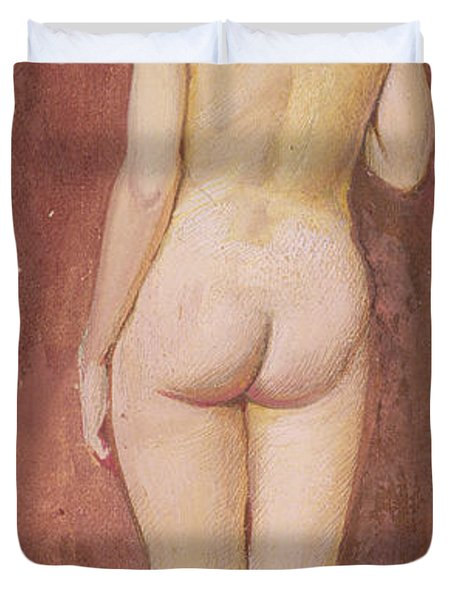Study Of A Nude Duvet Cover by Murray Bladon