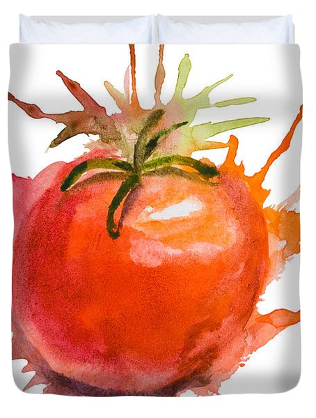 Stylized Illustration Of Tomato Duvet Cover