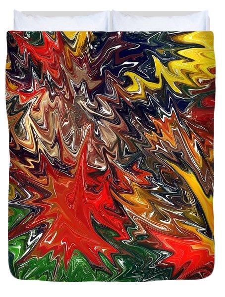 Summer Autumn Duvet Cover by Chris Butler