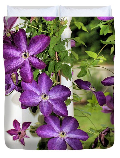 Summer Blooms Duvet Cover by Kristin Elmquist