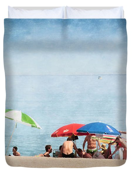 Summer By The Sea Duvet Cover by Mary Machare