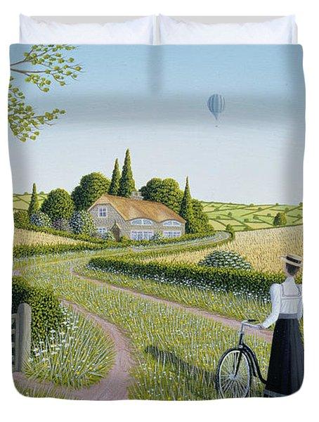Summer Cycling Duvet Cover by Peter Szumowski