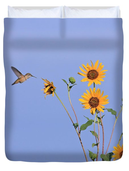 Summer Day Hummingbird Duvet Cover