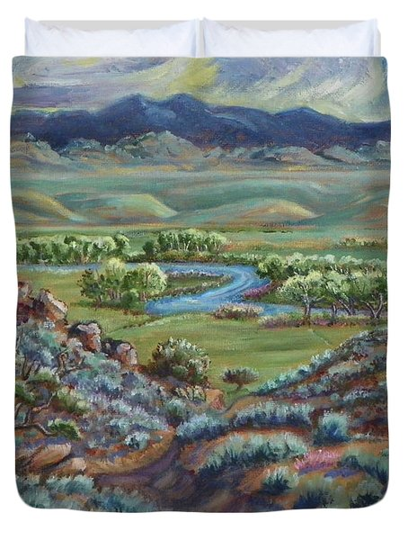Summer Evening In The River Valley Duvet Cover