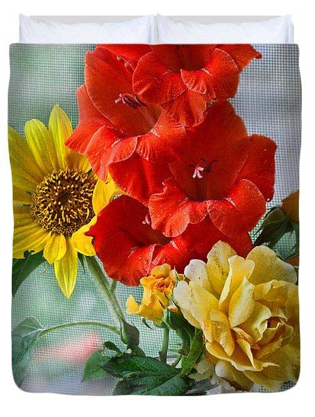 Summer Floral Duvet Cover by Debbie Portwood