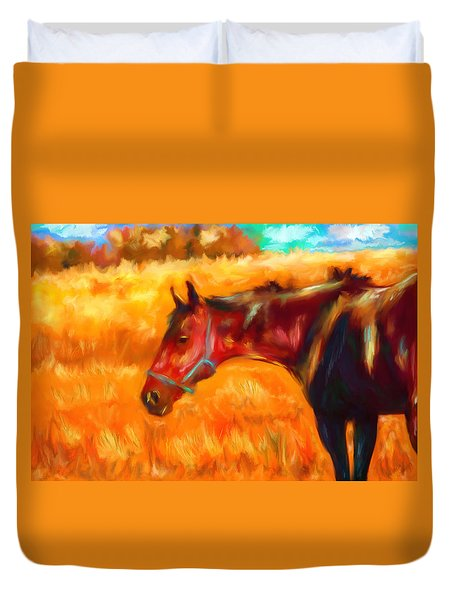 Summer Heat Duvet Cover by Michelle Wrighton