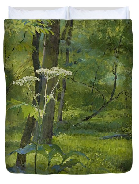 Summer In Fullersburg Woods Duvet Cover