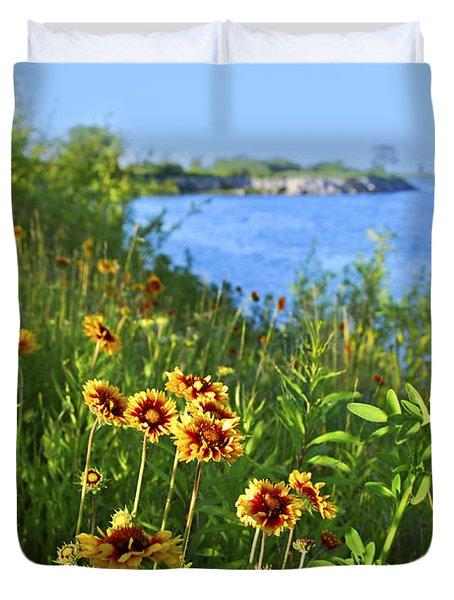Summer In Toronto Park Duvet Cover by Elena Elisseeva